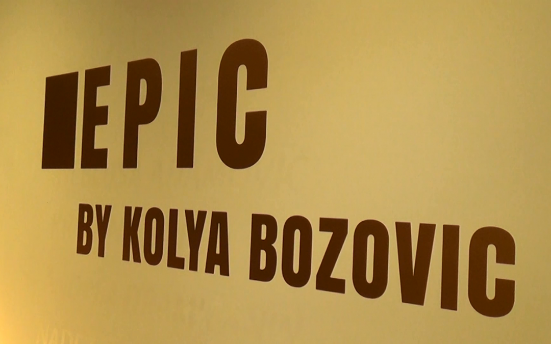 Opening of the art exhibition of Nikola Kolya Božović