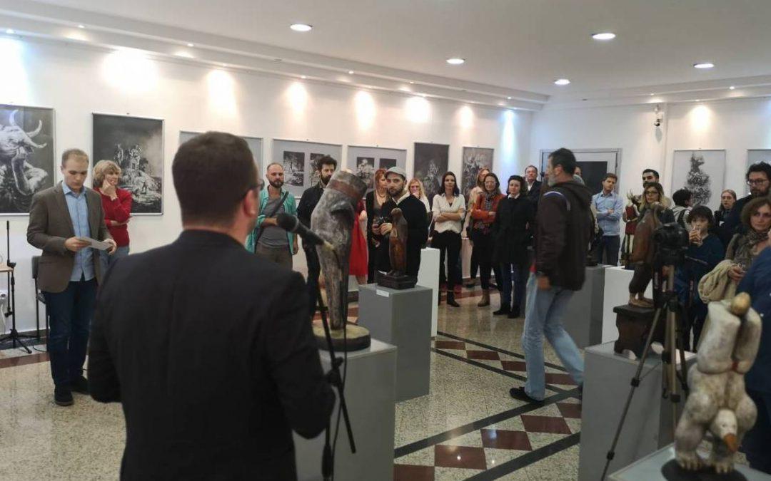 """Otvorena izložba crteža i skulptura """"Biti onaj drugi"""" u okviru Nedelje kulture na Vračaru"""