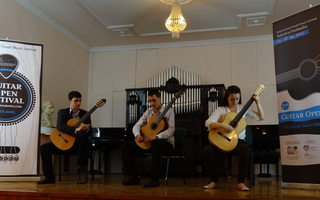 Closing ceremony of the Guitar Open Festival, 27th April at 20h – Music School Subotica
