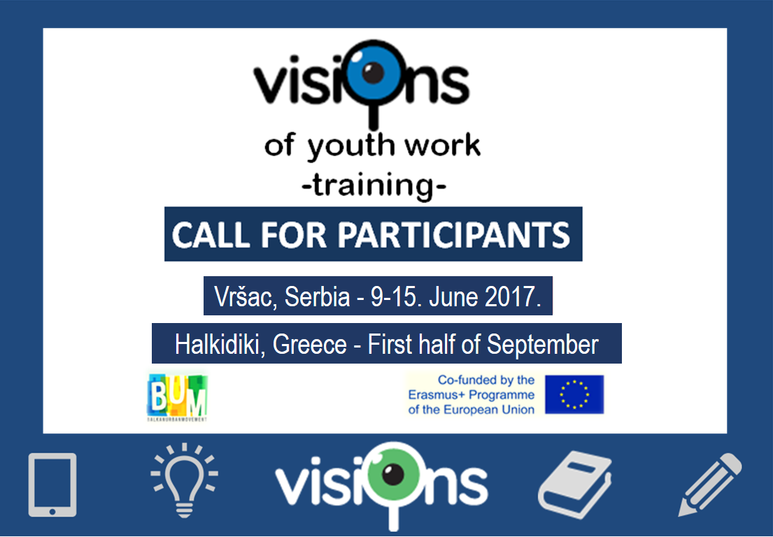 The Visions of Youth Work, training course- call for participants