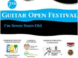 Opening of the 7th Guitar Open Festival 25th April 2013 at 20h – Music School Subotica