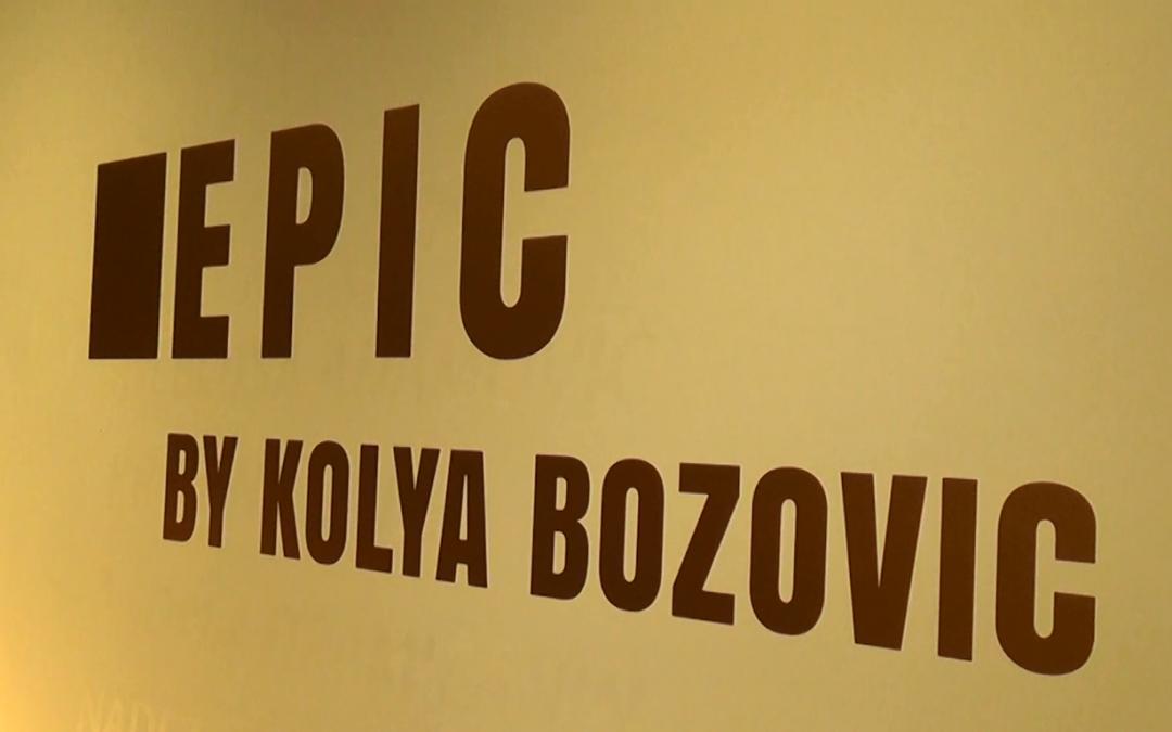 Opening of the art exhibition of Nikola Kolya Božović
