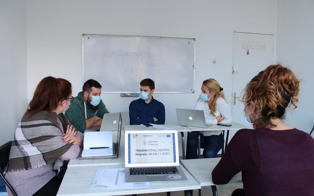 "Prvi transnacionalni sastanak na projektu ""Algoritam za mobilnost"""